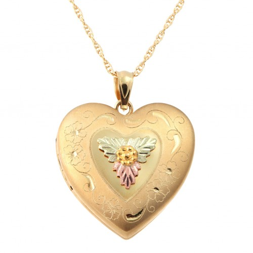 Mt. Rushmore Gold Black Hills Gold Heart Locket
