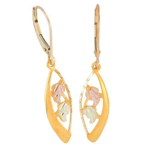Black Hills Gold Leverback Earrings from Mt. Rushm...