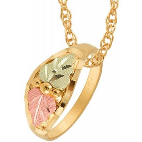 10k Black Hills Gold Ring Pendant