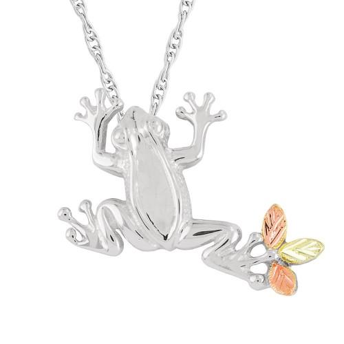 Black Hills Silver Frog Slider Pendant