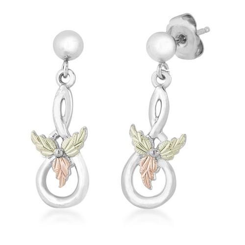Black Hills Silver Ball Post Dangle Earrings