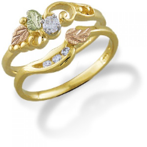 14K Gold Bridal Set - Engagement Ring and Wedding ...