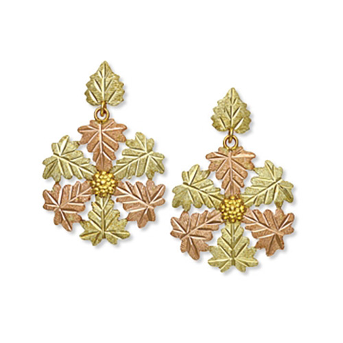 Black Hills Gold Snowflake Earrings