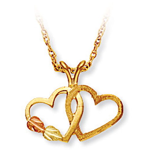 Black Hills Heart Pendant in 10K Gold