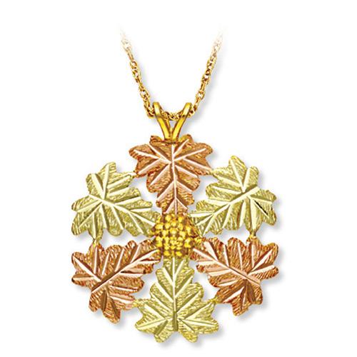 Black Hills Gold Snowflake Pendant