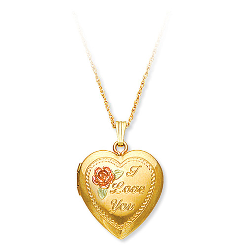 Black Hills Gold 'I Love You' Heart Locket