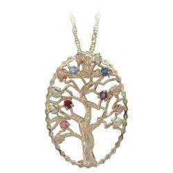 Black Hills Gold Family Tree Pendant