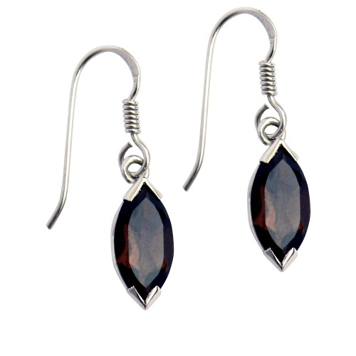 6 X 12 MM Marquise Smoky Quartz Earrings in 925 St...