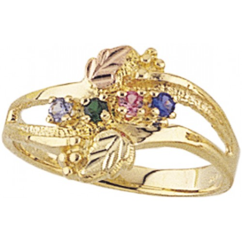 10K Gold Mothers Ring -  1-6 Birthstones