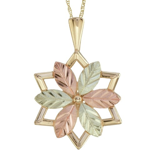Black Hills Gold 10K Star Shaped Pendant with 12K ...