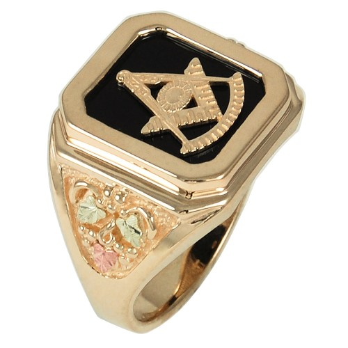 Black Hills Gold Masonic Past Grand Master Men's R...
