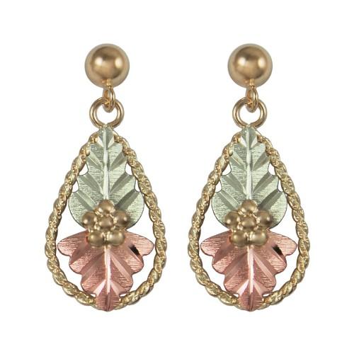 Black Hills Gold 10K Teardrop Earrings