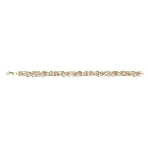Black Hills Gold Scrollwork Design Bracelet in 10K...