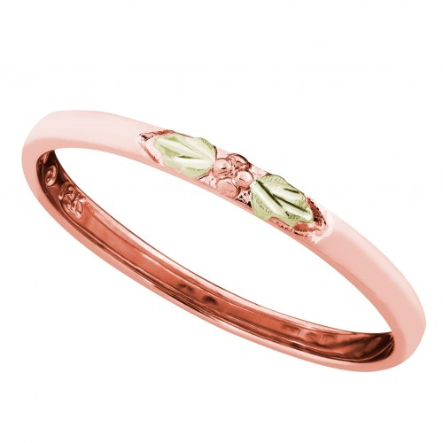 Women's Stackable Ring in 10K Rose Gold with Pink ...