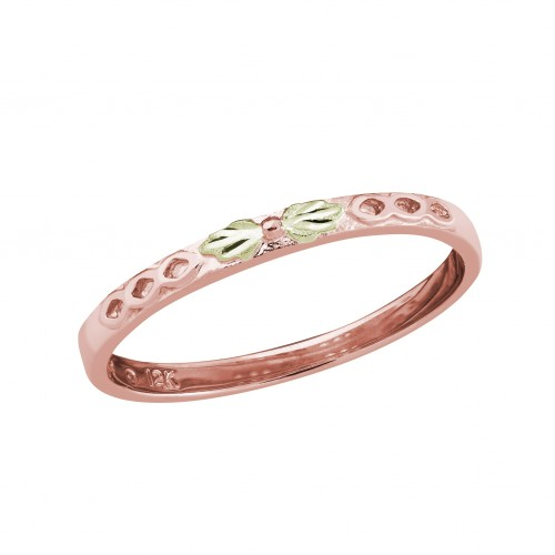 10k Black Hills Gold Stackable Ring in Rose Gold w...