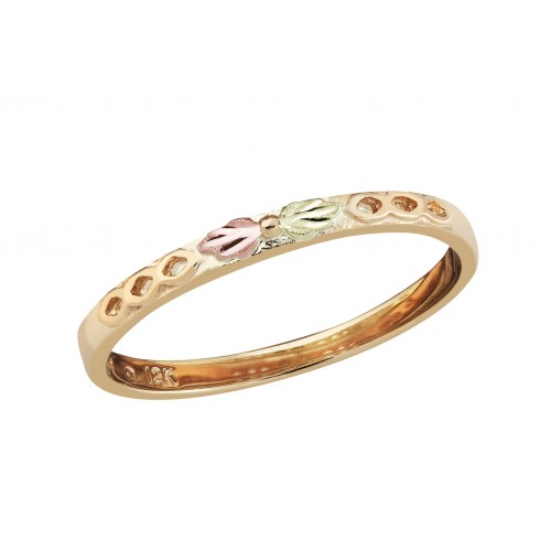 10k Black Hills Gold Stackable Ring in Yellow Gold...