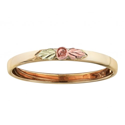 Landstroms Stackable Rose Ring in 10K Yellow Gold ...