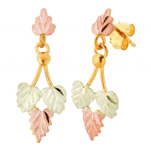 Landstroms Black Hills Gold 10k Gold Dangle Earrin...