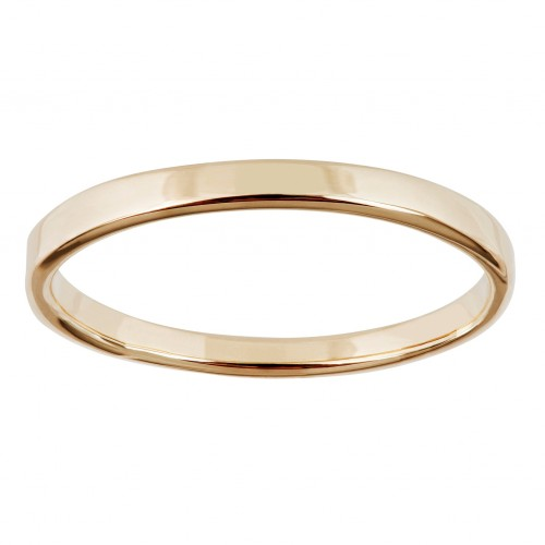Womens Black Hills Gold Solid Wedding Band