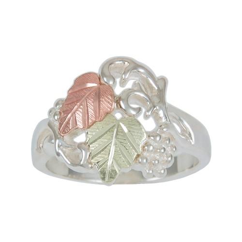 Ladies Black Hills Gold on Sterling Silver Leaves ...