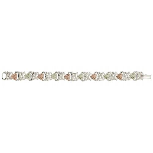 Black Hills Gold Heart Bracelet in Sterling Silver...