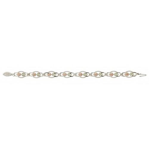 Black Hills Gold Link Bracelet in Sterling Silver ...