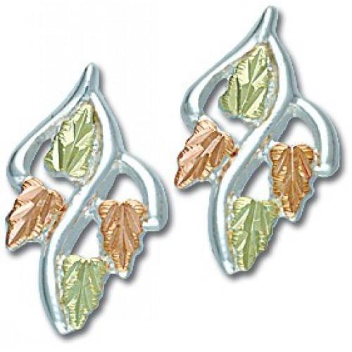 Sterling Silver Black Hills Silver Stud Earrings w...