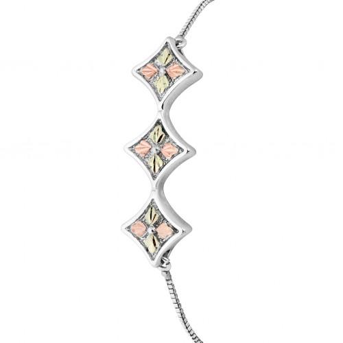 Sterling Silver Black Hills Diamond Shaped Bracele...