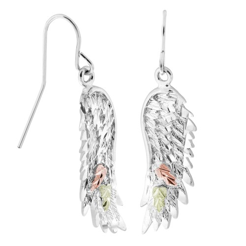 Black Hills Silver Angel Wings Earrings