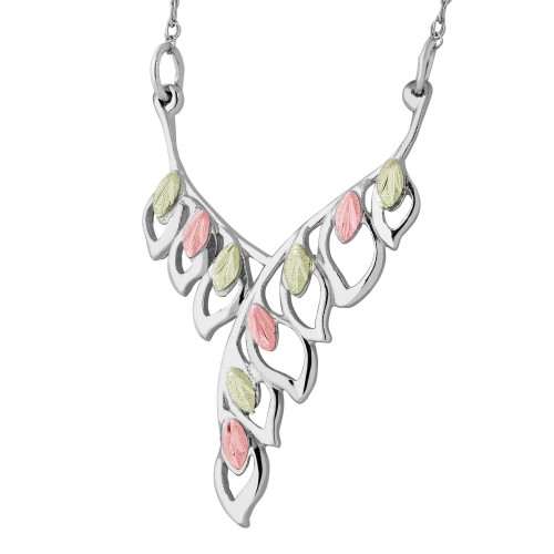 Black Hills Silver Open Design Leaf Necklace