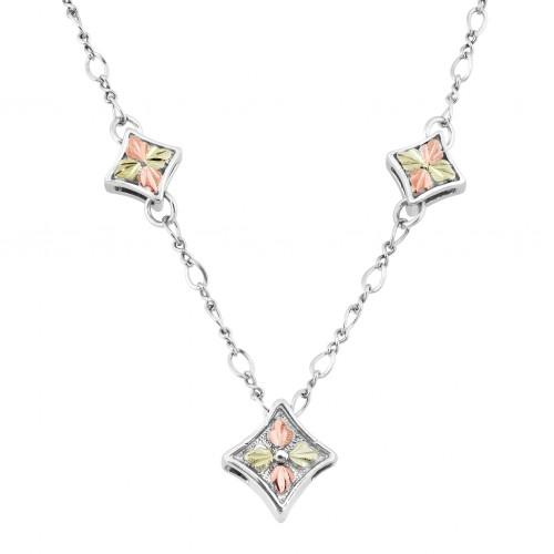 Black Hills Gold on Silver Diamond Sprinkle Chain ...
