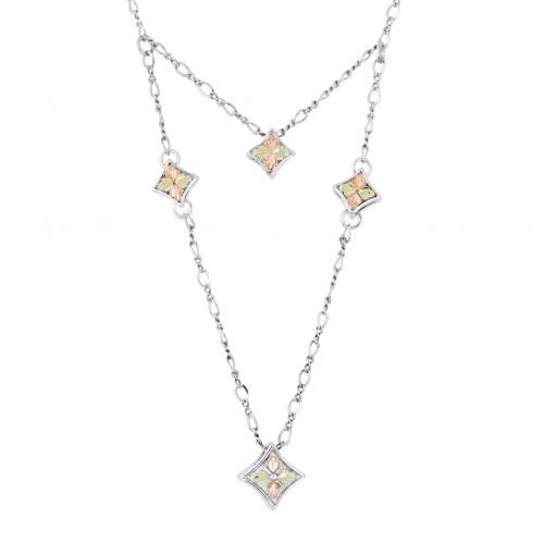 Black Hills Silver Double Layered Diamond Sprinkle...