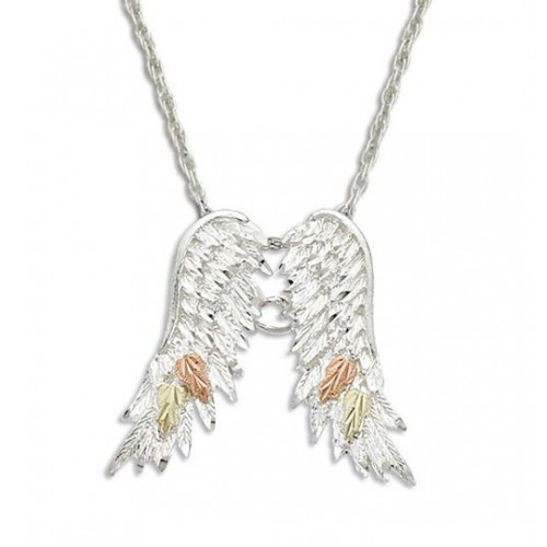 Black Hills Silver Angel Wings Necklace