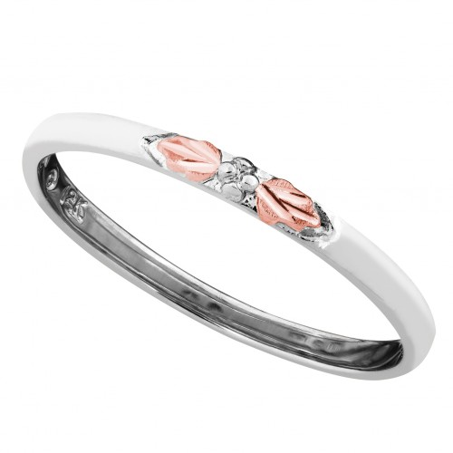 Landstroms Women's Stackable Ring in White Gold wi...