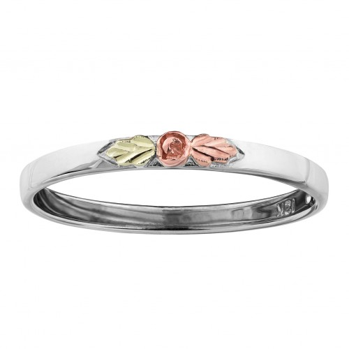 Landstroms Stackable Rose Ring in White Gold with ...