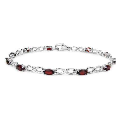 Marquise Shaped 6 x 3 mm Genuine Garnet Link Brace...