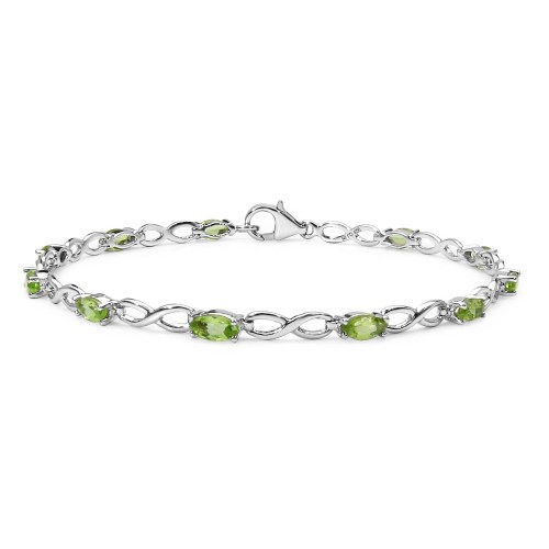 Marquise Shaped 6 x 3 mm Peridot Link Bracelet in ...