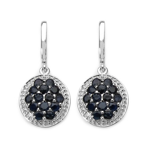 Natural Sapphire 925 Sterling Silver Earrings