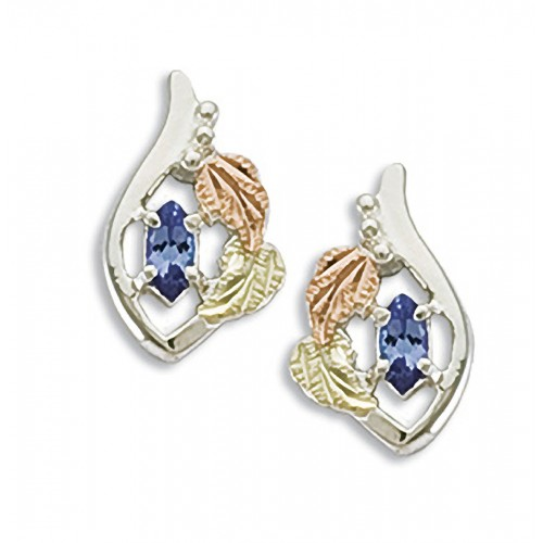Genuine Tanzanite Black Hills Earrings