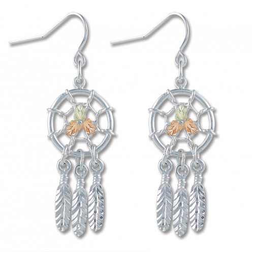Black Hills Silver Dreamcatcher Earrings