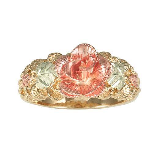 Rose Black Hills Gold Ring
