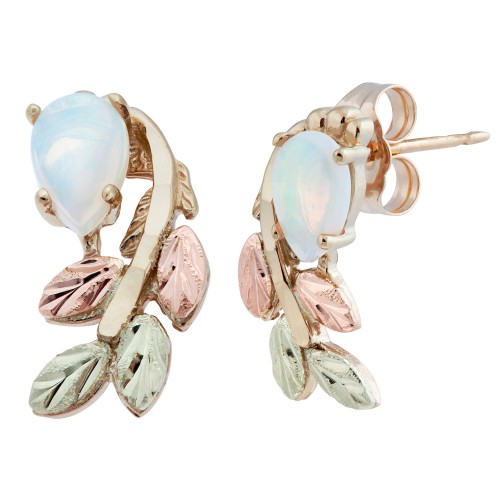 Opal Cabachon Black Hills Gold Earrings