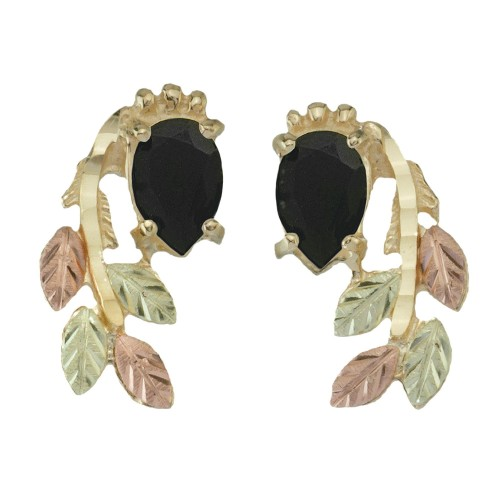 Onyx Black Hills Gold Earrings