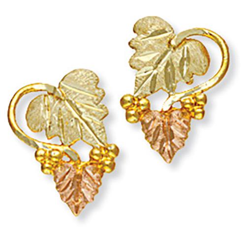 10k Gold Black Hills Stud Earrings