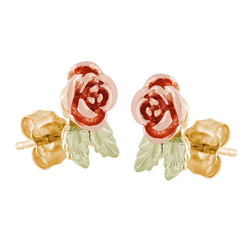 10K Gold Rose Earrings from Landstorms