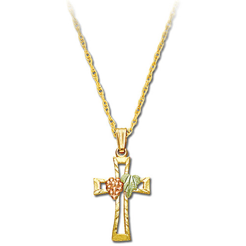 10k Gold Black Hills Cross Necklace