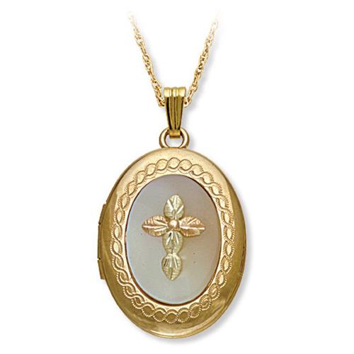 Mother of Pearl Black Hills Gold Locket