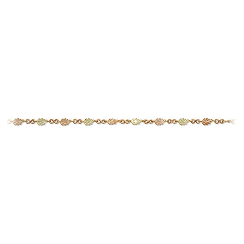 Pink and Green Leaves Black Hills Gold Bracelets