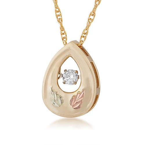 Black HillsGold Diamond Pendant with .01 ct Center...
