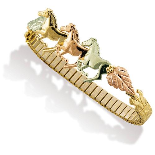 Black Hills Gold Horse Bracelets